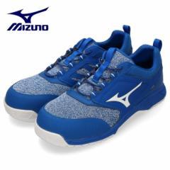 【還元祭クーポン対象】MIZUNO ミズノ 靴 90327 安全靴 オールマイティES31L F1GA190327 ワーキング 耐滑 ゴム紐 3E 青 ブルー メンズ JS
