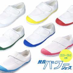 【BIGSALEクーポン対象】 上履き 子供 キッズ マジックテープ 教育パワーシューズ 大人 内履き 運動靴 マジックベルト 白 青 赤 黄 緑 L