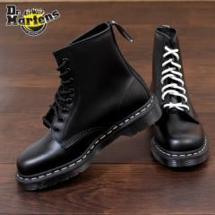 【還元祭クーポン対象】ドクターマーチン Dr.Martens 1460 WS ブーツ 8ホール 靴 24758001 黒 ホワイトステッチ レディース メンズ ユニ