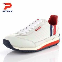【BIGSALEクーポン対象】 パトリック スニーカー マラソン PATRICKMARATHON-L 98800 ホワイト トリコロール メンズ レディース 靴 日本製