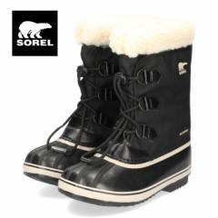ソレル SOREL NY1962 010 キッズ ブーツ ユートパックナイロン ブラック 防水 防風 防寒 暖か