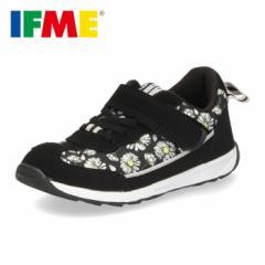 スニーカー イフミー キッズ IFME シューズ 30-9708 BLACK ブラック スニーカー 子供靴 ベルクロ