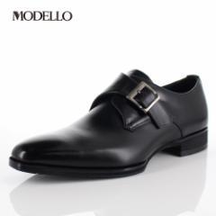 マドラス モデロ madras MODELLO DM8003 BLA メンズ ビジネスシューズ モンクストラップ 防水 革靴 日本製 ブラック