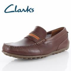 【還元祭クーポン対象】クラークス メンズ Clarks Hamilton Drive ハミルトンドライブ 84 タン レザー ローファー スリッポン 紳士靴 靴