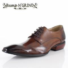 【BIGSALEクーポン対象】 メンズ ビジネスシューズ Bump N GRIND バンプ アンド グラインド 靴 BG-6050 CAMEL ブラウン 外羽根 レースア