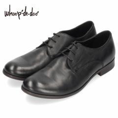 メンズ カジュアルシューズ フープディドゥ whoop-de-doo 306954 ブラック ラウンドトゥ 外羽根式 靴