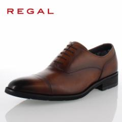 リーガル REGAL 靴 メンズ ビジネスシューズ 35HRBB ブラウン ストレートチップ 内羽根式 紳士靴 日本製 3E 本革 防水