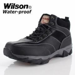 メンズ ブーツ ウイルソン Wilson 391 BLACK メンズ ワークブーツ カジュアルブーツ 防水 防滑 3E ブラック