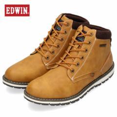 【還元祭クーポン対象】エドウィン EDWIN EDW-7922 イエロー メンズ ブーツ 防水 防滑 靴 レースアップ カジュアルシューズ