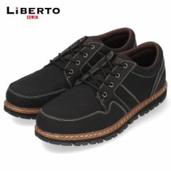 【還元祭クーポン対象】リベルトエドウィン LIBERTO EDWIN L60648 BLACK カジュアルシューズ メンズ スニーカー 防水 防滑 靴 レースア