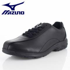 【還元祭クーポン対象】ミズノ MIZUNO メンズ ウォーキングシューズ LD40V SW B1GC191809 ブラック 本革 靴 4E 抗菌 防臭