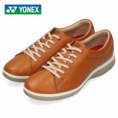 ヨネックス パワークッション 107 メンズ レディース ウォーキングシューズ YONEX SHW107 ライトブラウン スニーカー レザー 靴 3.5E