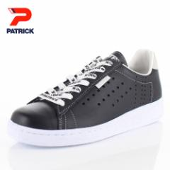 【BIGSALEクーポン対象】 パトリック スニーカー ケベック ロゴ PATRICK QUEBEC-LG BLK 531061 ブラック メンズ レディース 靴 日本製 レ