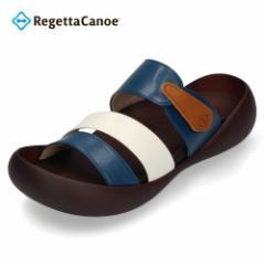 【還元祭クーポン対象】リゲッタカヌー メンズ サンダル Regetta Canoe CJMB2500 GRC ギリシャ ブルー ホワイト ビッグフットライトサン