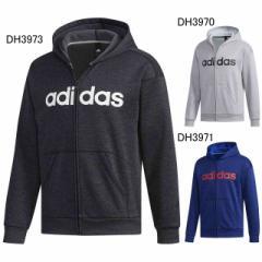 アディダス M SPORTS ID リニアロゴスウェットフルジップパーカー  裏起毛  adidas FAT24