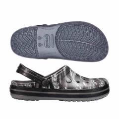 クロックス メンズファッション コンフォートサンダル クロックバンド グラフィック クロッグ ライトグレー crocs 204553-007