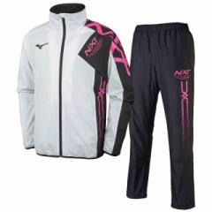 ミズノ  MIZUNO N-XT ウォーマーシャツ & パンツ ブレスサーモ 上下セット ホワイト×ブラックFピンク