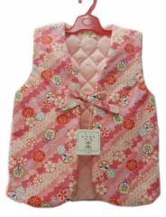 子供 あったか ポンチョ 110 サイズ 5〜6歳用 ピンク地 八重桜 柄 No.3064