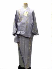 新作 丸洗いできる着物 帯のいらない着物 二部式 洗える二部式(袷) 藤色地 桜 柄 No.3063