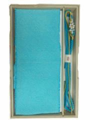 振袖 振袖用 総絞り 正絹 帯締め 帯揚げ セット 水色地 No.3012