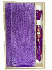 振袖 振袖用 総絞り 正絹 帯締め 帯揚げ セット 紫地 No.3017