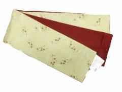 半幅帯 半巾 細帯 浴衣帯 四寸帯 リバーシブル四寸帯 日本製 クリーム地 小花 柄 No.3050