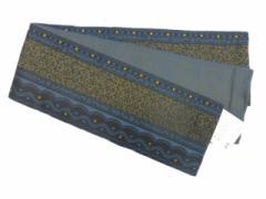 半幅帯 半巾 細帯 浴衣帯 四寸帯 リバーシブル四寸帯 日本製 濃紺地 幾何学 柄 No.3055
