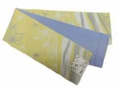 半幅帯 半巾 細帯 浴衣帯 四寸帯 リバーシブル四寸帯 クリーム地 麻の葉 柄 no3101