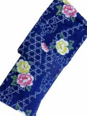 京都で一番浴衣を販売する小売屋さんお薦め 仕立て上がり浴衣  対応身長 154cm-165cm 変わり織 藍色地 バラ 柄 No.3024