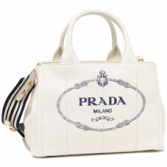 プラダ トートバッグ レディース PRADA 1BG439 ZKI ROO F0UB0 ホワイト ネイビー