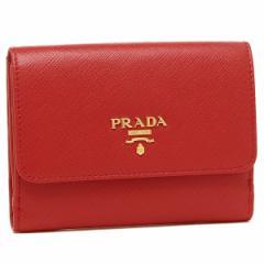プラダ 二つ折り財布 PRADA 1MH523 ZLP F0NBX レッド ピンク