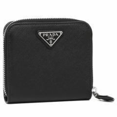【あす着】プラダ 折財布 レディース PRADA 1ML522 QHH F0632 ブラック シルバー