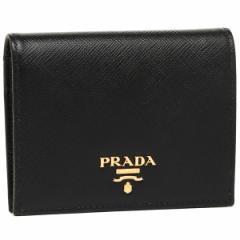 プラダ 折財布 レディース PRADA 1MV204 QWA F0002 ブラック