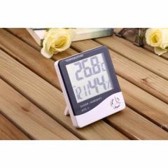 デジタル温湿度計 デカ文字 温度計 時計 アラーム カレンダー 健康管理 壁掛け