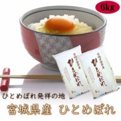 米 6kg 送料無料 令和2年産 宮城県 登米産 ひとめぼれ 白米 6kg (3kg×2) 産地直送 デザインポリ袋仕様