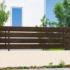 腐らない木調アルミフェンス 三協アルミ フレイナ Y3型 本体 フリー支柱タイプ 2006 『柵 高さ H60