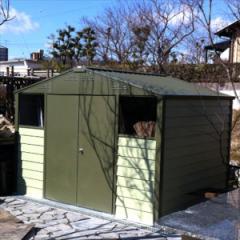 ガーデナップ メタルシェッド TM5 D60TM5MLOG アペックスルーフ 物置  『おしゃれ 物置小屋 屋