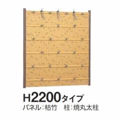タカショー e-バンブーユニット 建仁寺垣 H2200 パネル (片面) *柱は別売です 『竹垣フェンス 柵』