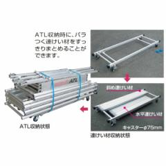 ピカコーポレイション パイプ製足場ハッスルタワー連けい材収納わく用台車 ATL-RDA