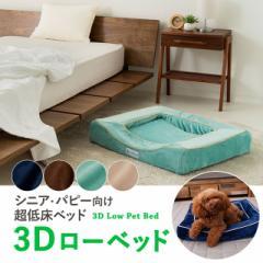 ペット用 3Dローベッド 超低床ベッド シニア パピー 老犬 介護 固綿 カバー 洗える 成犬 子犬 犬 猫 Lサイズ XLサイズ 送料無料