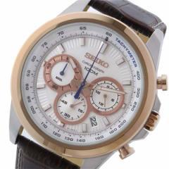 腕時計 メンズ セイコー SEIKO クロノ クオーツ SSB250P1 ホワイト