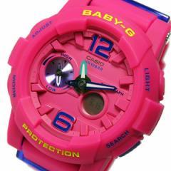 腕時計 レディース カシオ ベビージー Baby-G クオーツ BGA-180-4B3 ピンク