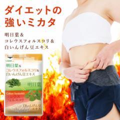 明日葉 コレウスフォルスコリ 白いんげん豆 約3ヵ月分 ダイエット サプリ kan