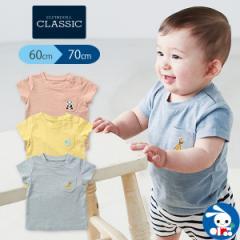[EFC]ポケット刺繍半袖Tシャツ【60-70cm】[ベビー tシャツ 赤ちゃん 子供 キッズ ベビー服 半袖 子供服 子ども服 ベビーウエア アウトウ