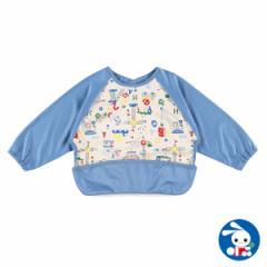 食事用長袖エプロン(はたらくくるま)[赤ちゃん 食事 エプロン 男の子 女の子 ベビー 洗える おしゃれ 可愛い かわいい お食事 離乳食