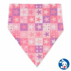 ゴム付き三角巾(ピンクスター柄)[子供用 きっず用 キッズ用 ][西松屋]