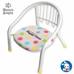 SmartAngel)サイレントミニチェアPeppyTimeホワイト[ベビー ベビーチェア 赤ちゃん チェア 椅子 いす イス ベビーチェアー 赤ちゃん用品]