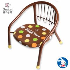 SmartAngel)サイレントミニチェアPeppyTimeブラウン[ベビー ベビーチェア 赤ちゃん チェア 椅子 いす イス ベビーチェアー 赤ちゃん用品]