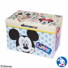 [ディズニー]座れるおもちゃ箱(ミッキー&ミニー)[スツール 椅子 収納イス おもちゃ箱 座れる おもちゃばこ 収納ボックス おもちゃ 子供