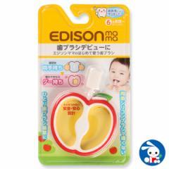 エジソン)エジソンママのはじめて使う歯ブラシ[歯ブラシ 赤ちゃん ベビー 乳歯 ハブラシ はぶらし はみがき ハミガキ ベビー用品 ベビー